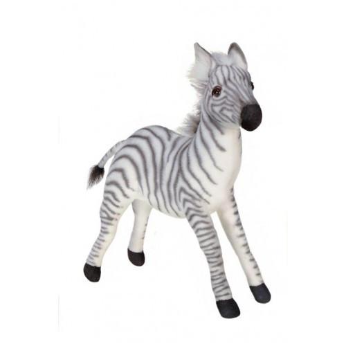 "Set of 2 Black and White Handcrafted Plush Baby Zebra Stuffed Animals 110.50"" - IMAGE 1"
