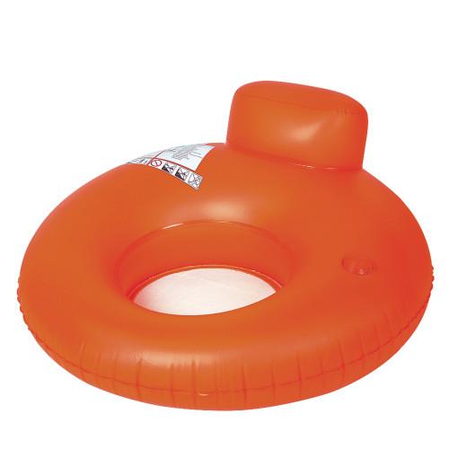 48'' Orange Inflatable Inner Tube Water Pool Sofa Lounger Float - IMAGE 1
