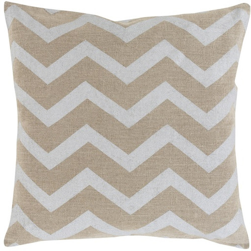 """18"""" Gray and Brown Hand Woven Square Throw Pillow - IMAGE 1"""