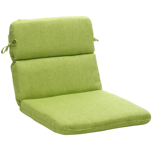 """40.5"""" Green Solid Reversible Outdoor Patio Rounded Chair Cushion - IMAGE 1"""