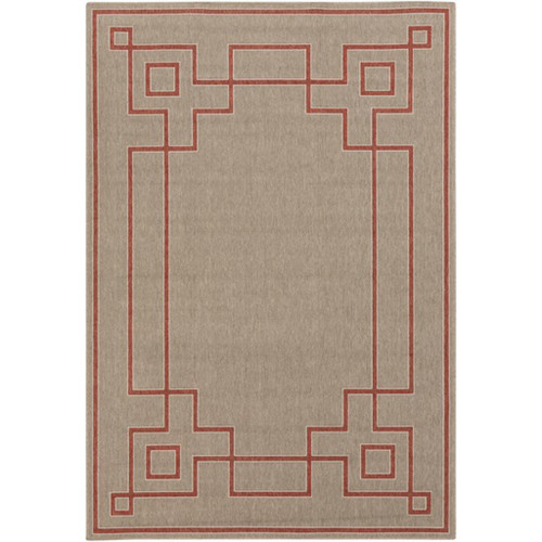 2.25' x 4.5'  Sepia Brown and Cream White Shed Free Outdoor Area Throw Rug - IMAGE 1