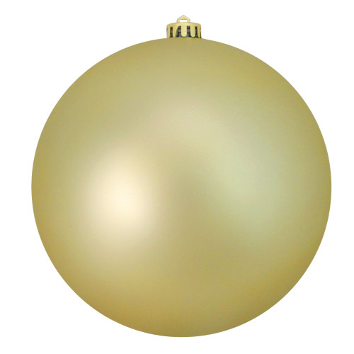 """Matte Champagne Gold Shatterproof Commercial Size Christmas Ball Ornament 8"""" (200mm) - IMAGE 1"""