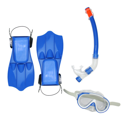 """16.5"""" Blue and Clear Swimming Pool Snorkeling Set - Medium - IMAGE 1"""