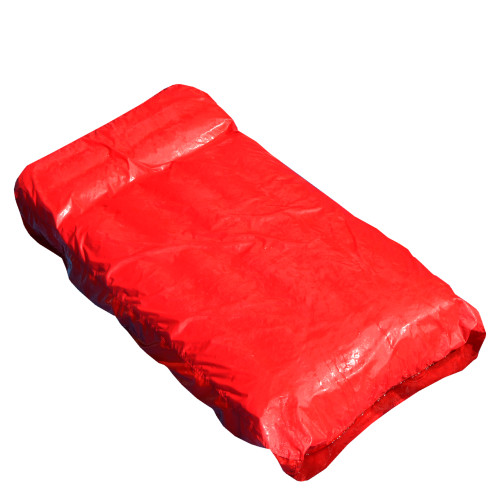 72-Inch Red Inflatable SunSoft Swimming Pool Mattress Lounger Float - IMAGE 1