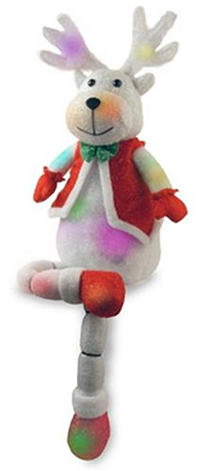 """34"""" Battery Operated LED Lighted Color Changing Reindeer Christmas Decor - IMAGE 1"""