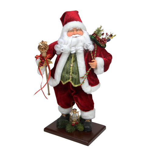 "18"" Red and White Santa Claus Christmas Tabletop Decor - IMAGE 1"