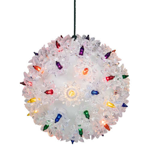 """Multicolor Lighted Hanging Starlight Sphere Outdoor Christmas Decoration 6"""" (150mm) - IMAGE 1"""