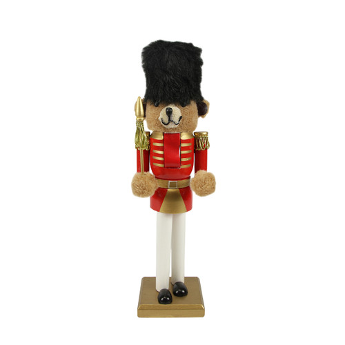 """14"""" Red and Gold Soldier Nutcracker Christmas Table Top Decor - IMAGE 1"""