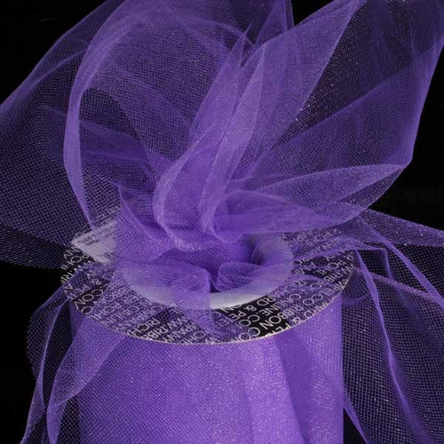 """Purple Contemporary Tulle Craft Ribbon 6"""" x 275 Yards - IMAGE 1"""