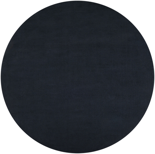 9.75' Jade Black Hand Loomed Solid Round Area Throw Rug - IMAGE 1