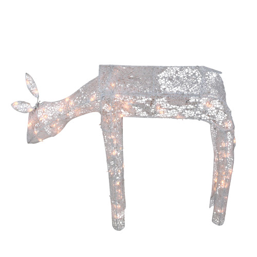 "36"" Pre-Lit 3-D Animated Feeding Doe Reindeer Outdoor Christmas Decor - Clear Lights - IMAGE 1"