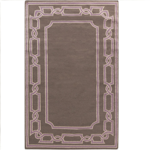 3.25' x 5.25' Brown Hand-Woven Wool Area Throw Rug - IMAGE 1