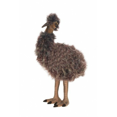 Set of 3 Brown Handcrafted Plush Baby Emu Bird Stuffed Animals 15'' - IMAGE 1