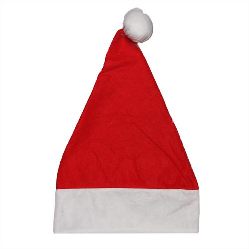 "18"" Red and White Unisex Adult Christmas Santa Hat Costume Accessory - Medium - IMAGE 1"