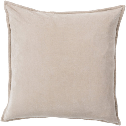 "22"" Calma Semplicita Light Gray Decorative Square Throw Pillow - IMAGE 1"