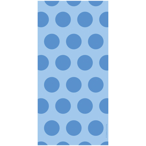 "Club Pack of 240 Blue Two-Tone Polka Dot Bags 11.25"" - IMAGE 1"