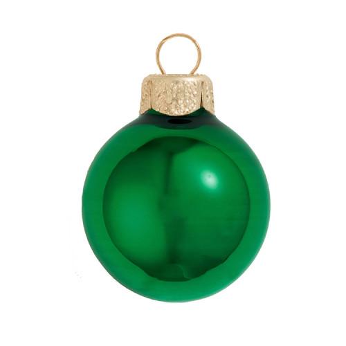 "Shiny Green Xmas Glass Ball Christmas Ornament 7"" (180mm) - IMAGE 1"