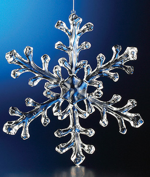 """Club Pack of 12 Clear Icy Large Christmas Snowflake Ornaments 9.5"""" - IMAGE 1"""