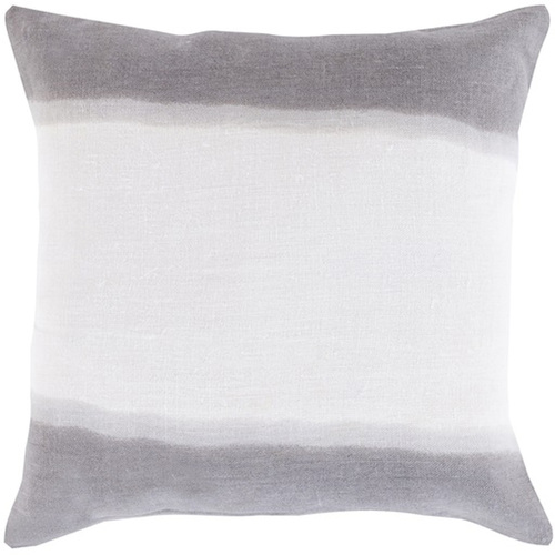 """18"""" Gray and White Double Dip Decorative Throw Pillow - IMAGE 1"""