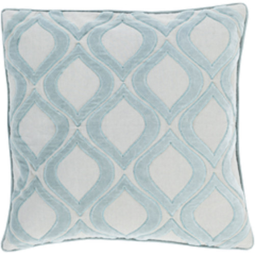 """20"""" Blue and Gray Diamond Square Throw Pillow - Down Filler - IMAGE 1"""