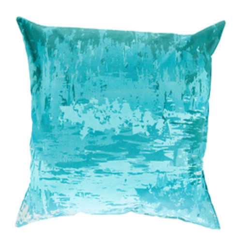 """22"""" Turquoise Blue Contemporary Throw Pillow - Down Filler - IMAGE 1"""