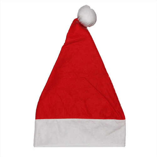Red and White Unisex Adult Christmas Santa Hat Costume Accessory - Small - IMAGE 1