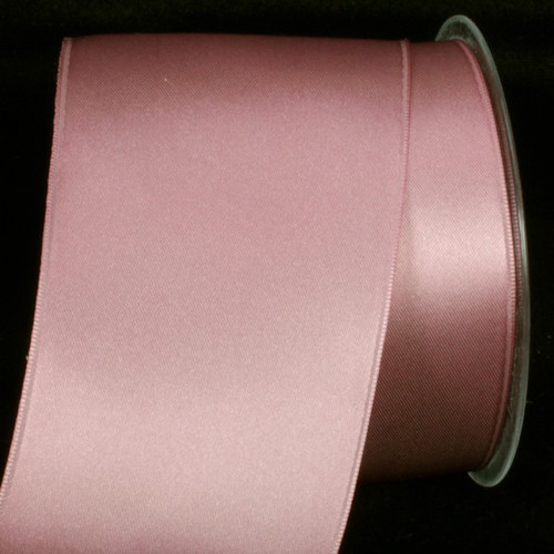 """Mauve Purple Double Face Wired Craft Ribbon 2.75"""" x 22 Yards - IMAGE 1"""