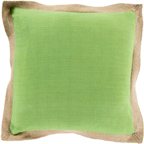 """18"""" Green and Brown Throw Pillow - IMAGE 1"""