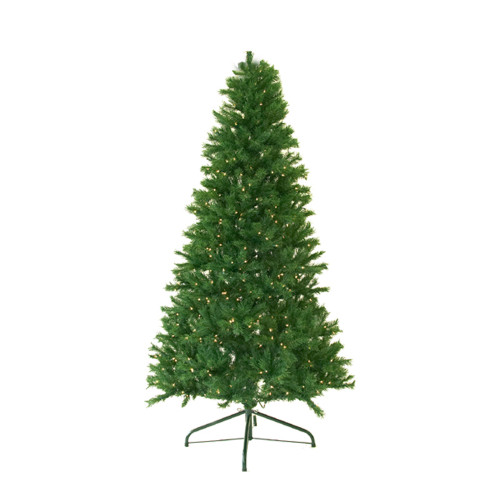 7' Pre-Lit Full Canadian Pine Artificial Christmas Tree - Clear Lights - IMAGE 1