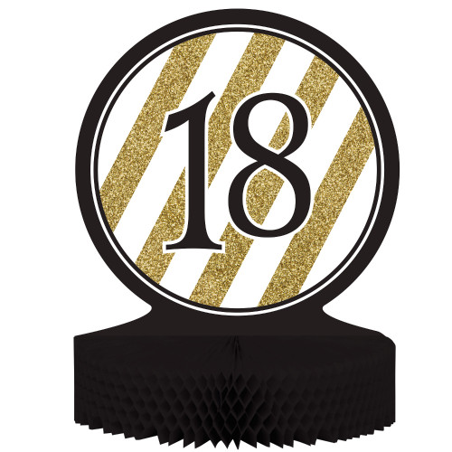 """Pack of 6 """"18"""" Birthday or Anniversary Honeycomb Party Centerpiece Decoration 13"""" - IMAGE 1"""