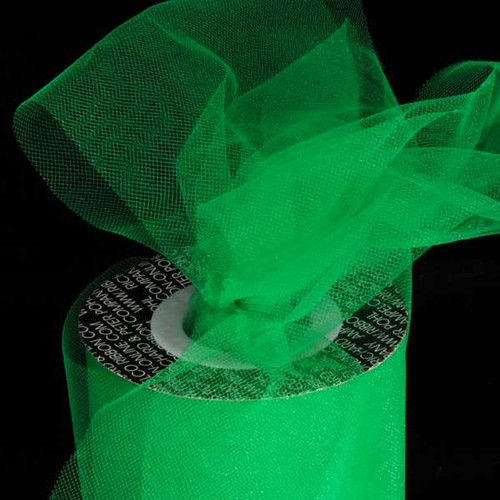 Green Contemporary Tulle Craft Ribbon 6 x 275 Yards - IMAGE 1