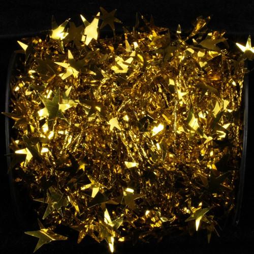 "Gold Star Wired Craft Ribbon Garland 1"" x 108 Yards - IMAGE 1"