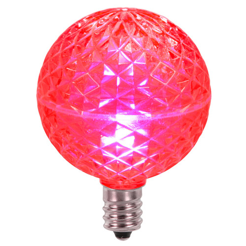 Club Pack of 25 LED G50 Pink Replacement Christmas Light Bulbs - E12 Base - IMAGE 1