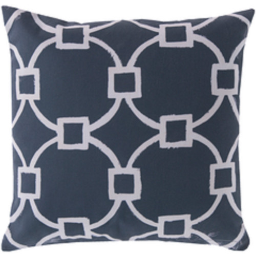 """18"""" Navy Blue and Beige Nautica Encounter Square Throw Pillow Cover - IMAGE 1"""