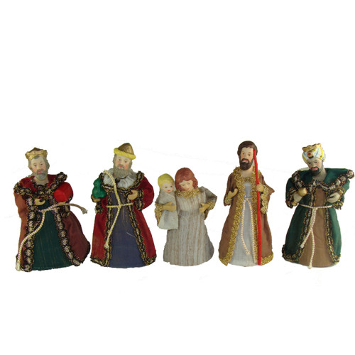 """Club Pack of 120 Holy Family and Wise Men Christmas Nativity Figurines 6"""" - IMAGE 1"""