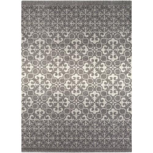 7.75' x 10.65' Iris Excursions Charcoal Gray Rectangular Area Throw Rug - IMAGE 1