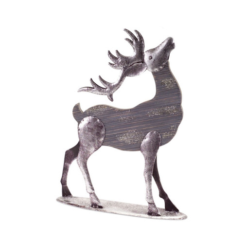 """19"""" Gray and Silver Colored Doe Reindeer Christmas Tabletop Figurine - IMAGE 1"""