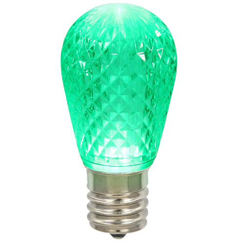 Club Pack of 25 Green LED Replacement Christmas Bulbs - E26 Base - IMAGE 1