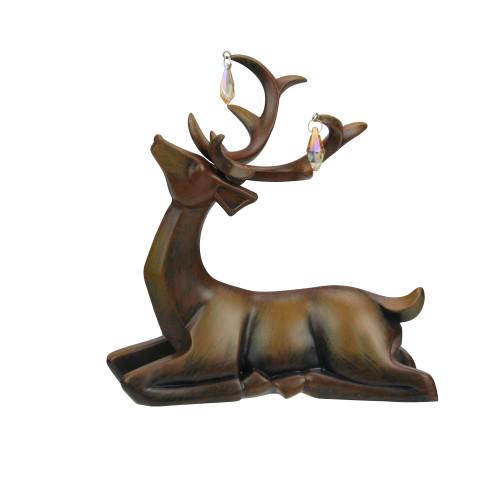"7.5"" Brown Laying Deer Christmas Table Top Decoration - IMAGE 1"