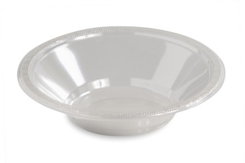 Club Pack of 240 Classic Clear Disposable Round Party Snack Bowls 12 oz. - IMAGE 1