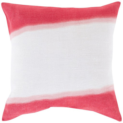"""18"""" Hot Pink and White Double Dip Decorative Throw Pillow - IMAGE 1"""