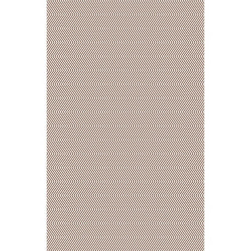 8' x 10' Zigzag Stone Blue and Beige Hand Woven Rectangular Area Throw Rug - IMAGE 1