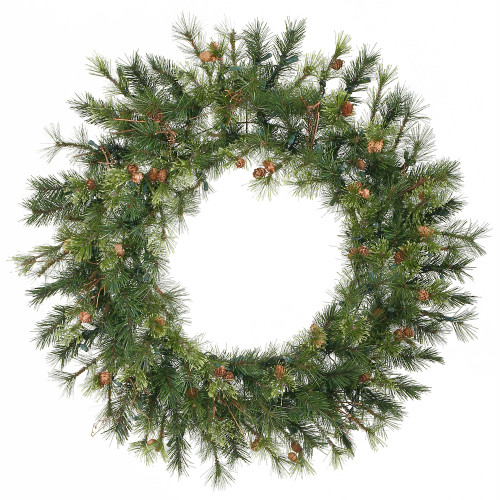 Mixed Country Pine Artificial Christmas Wreath - 36-Inch, Unlit - IMAGE 1