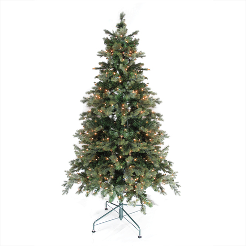 6' Pre-Lit Medium Savannah Spruce Artificial Christmas Tree - Clear Lights - IMAGE 1