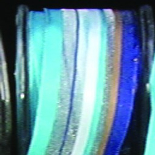 """Blue and White Stripe Wired Craft Ribbon 0.75"""" x 108 Yards - IMAGE 1"""