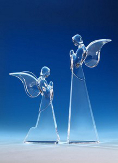 """Set of 2 Icy Clear Decorative Christmas Butterfly Angel Figurines 12"""" - IMAGE 1"""
