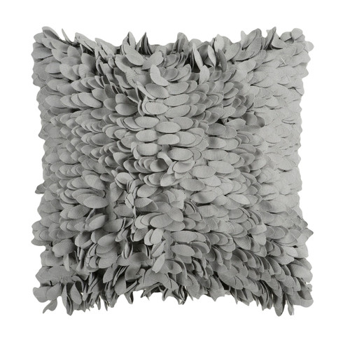 """22"""" Gray Contemporary Solid Square Throw Pillow - Down Filler - IMAGE 1"""