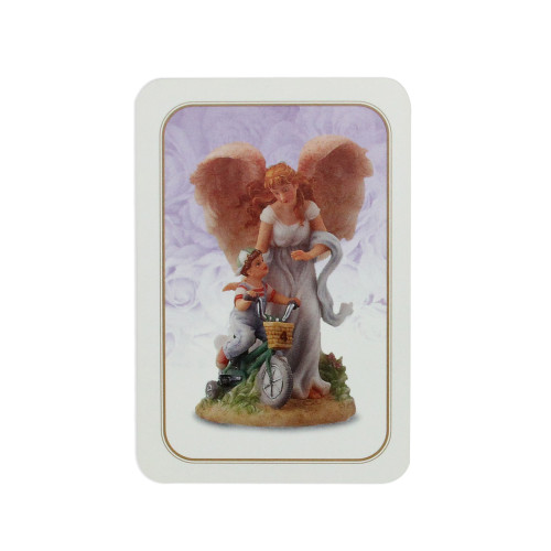 """Club Pack of 25 Seraphim Classics 'Why God Made Little Boys' Prayer Cards 3.5"""" - IMAGE 1"""