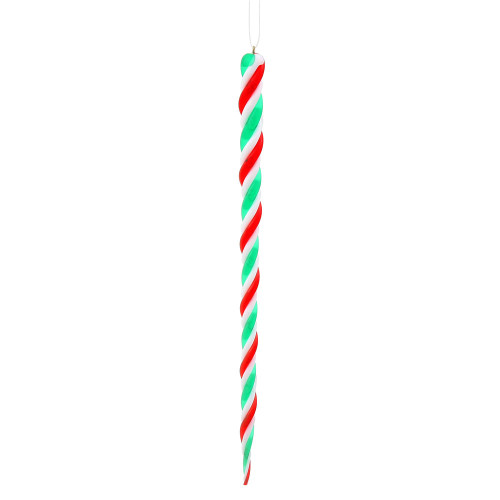 """6ct Red and Green Shatterproof Spiral Icicle Christmas Ornaments 10"""" - IMAGE 1"""