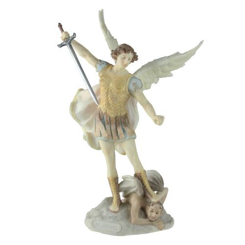 "10.5"" Galleria Divina Religious St. Michael the Archangel Table Top Figure - IMAGE 1"